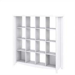 Bush  Furniture Aero 16-cube Bookcase-Room Divider in Pure White