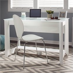 Bush Aero Writing Desk in Pure White