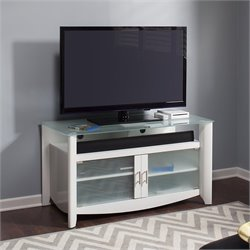 Bush  Furniture Aero TV Stand in Pure White