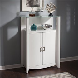 Bush  Furniture Aero 2-Door Medium Library Storage in Pure White