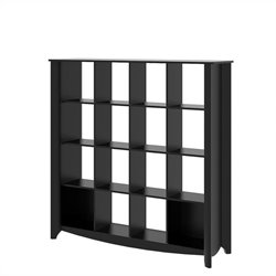 Bush  Furniture Aero 16-cube Bookcase-Room Divider in Classic Black