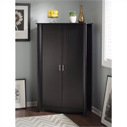 Bush  Furniture Aero 2-Door Tall Storage in Classic Black