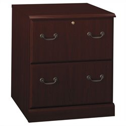 Bush Bennington 2 Drawer Lateral File Cabinet in Harvest Cherry