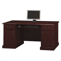 Bush Bennington 66W Credenza in Harvest Cherry