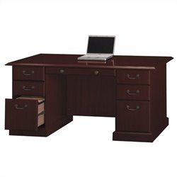 Bush Bennington Manager's Desk in Harvest Cherry