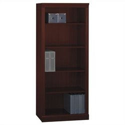 Bush Bennington 5-Shelf Bookcase in Harvest Cherry