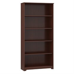 Bush Cabot 5-Shelf Bookcase in Harvest Cherry