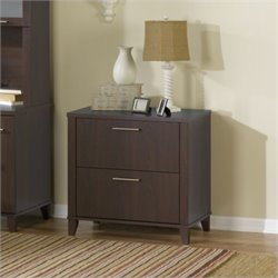 Bush Somerset 2 Drawer Lateral File Cabinet in Mocha Cherry