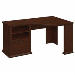 Bush Yorktown 60W Corner Desk in Antique Cherry