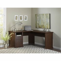 Bush Yorktown 60W L-Desk in Antique Cherry
