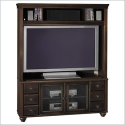 Bush Furniture Collection 54 Inch Wood Corner Plasma TV Stand Base and Hutch