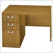 Bush Quantum Modern Cherry 42 Inch Left Return with Pedestal