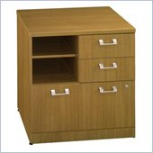 Bush Quantum 30 1 Drawer Lateral Wood File Cabinet in Modern Cherry