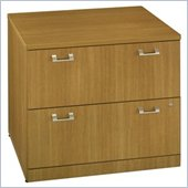 Bush Quantum 36 2 Drawer Lateral Wood File Storage Cabinet in Modern Cherry