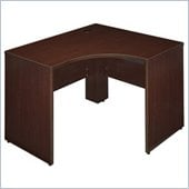 Bush Quantum 47 Left Corner Credenza Desk in Harvest Cherry