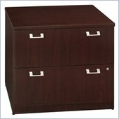 Bush Quantum 36 2 Drawer Lateral Wood File Storage Cabinet in Harvest Cherry