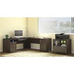 Bush Achieve 2 Piece L Shape Desk Office Set in Sweet Cherry