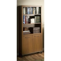 Bush Achieve 3 Shelf Bookcase in Warm Oak
