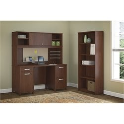 Bush Envoy 3 Piece Office Set in Hansen Cherry