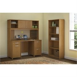 Bush Envoy 3 Piece Office Set in Natural Cherry