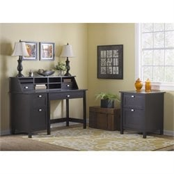 Bush Broadview Computer Desk with 2 Drawer File Cabinet in Espresso