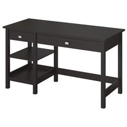 Bush Broadview Open Storage Desk in Espresso Oak