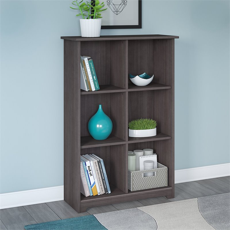 Cabot 6 Shelf Bookcase in Heather Gray
