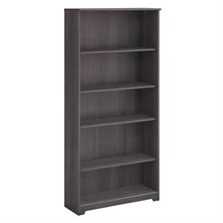 Bush Cabot 5 Shelf Bookcase in Heather Gray