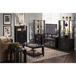 Bush Aero 7 Piece Entertainmenet Set in Classic Black