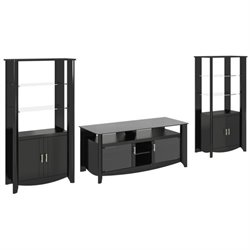 Bush Aero 3 Piece Entertainment Center in Classic Black