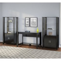 Bush Aero 3 Piece Office Set in Classic Black