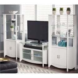 Bush Aero 3 Piece Entertainment Center in Pure White