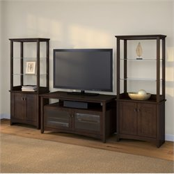 Bush Buena Vista 3 Piece Entertainment Center in Madison Cherry