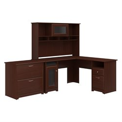 Bush Cabot 3 Piece Office Set in Harvest Cherry