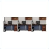 Bush Office-in-an-Hour Straight 3 Desk Workstation with Storage