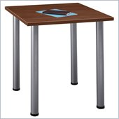Bush Aspen Square Table with Wood Top and Metal Legs
