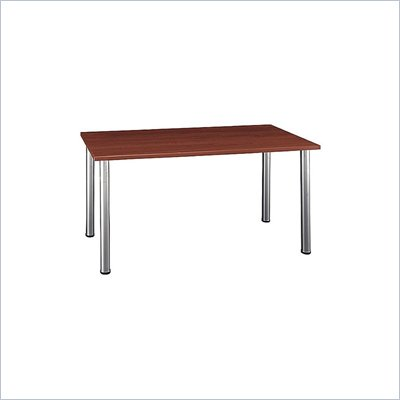 Bush Aspen Large Rectangle Table with Wood Top and Metal Legs