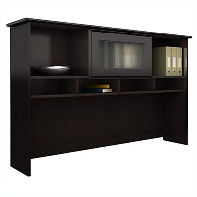 Bush Cabot 60&quot; Hutch in Espresso Oak