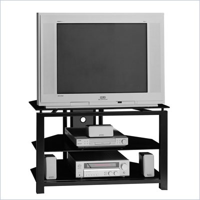 Bush 36 Inch Wood TV Stand in Black
