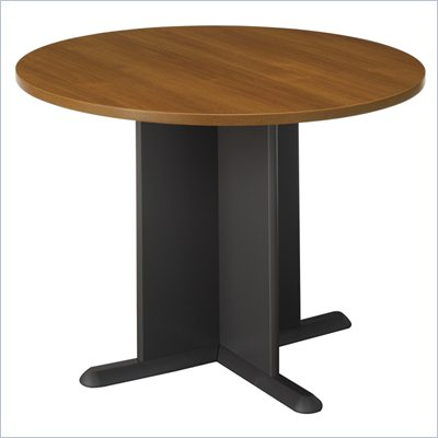 Bush Conference Tables 42&quot; Round Conference Table in Oak and Gray