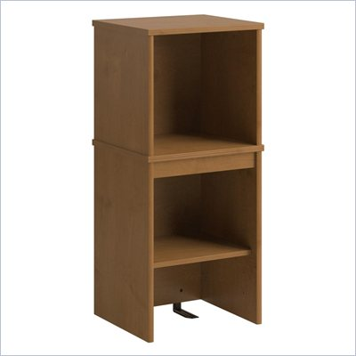 Bush Envoy Narrow Wood Hutch in Natural Cherry