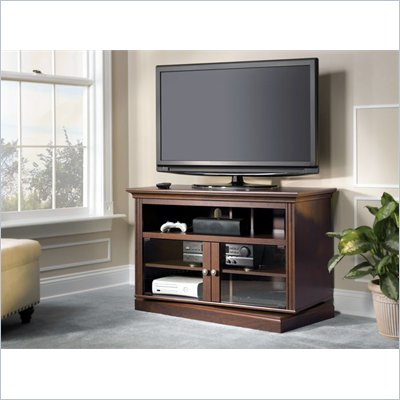 Bush New Haven Swivel Base TV Stand in Bing Cherry