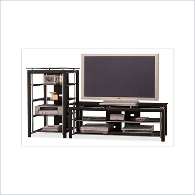 Bush Midnight Mist 60&quot; Flat Panel TV Stand and Audio Rack