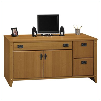 Bush Mission Pointe 60&quot; Wood Credenza Desk in Maple