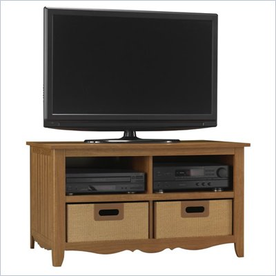 Bush MySpace Antonia Plasma/LCD TV Stand in Medium Superb Oak