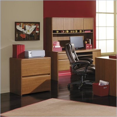 Bush Northfield 2 Drawer Lateral Wood File Cabinet in Dakota Oak