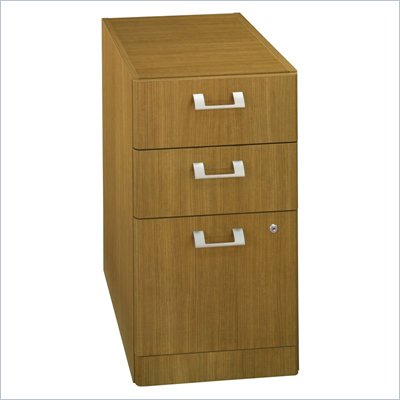 Bush Quantum 3 Drawer Vertical Wood File Cabinet in Modern Cherry