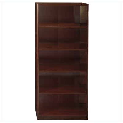 Bush Quantum 5 Shelf Standard Wood Bookcase in Harvest Cherry