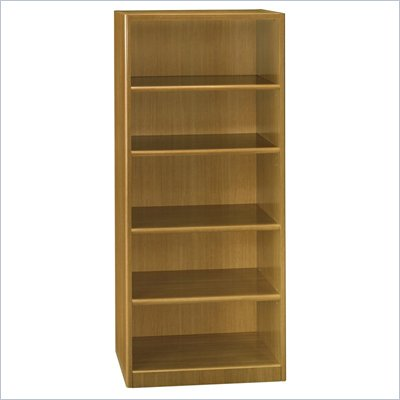 Bush Quantum 5 Shelf Standard Wood Bookcase in Modern Cherry