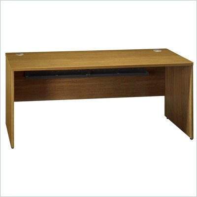 "Bush Quantum 72"" Wood Credenza Shell in Modern Cherry"